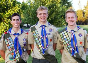 Boy Scouts earn Eagle Scout rank