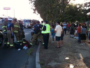 Pregnant Lodi woman, two kids struck in crosswalk