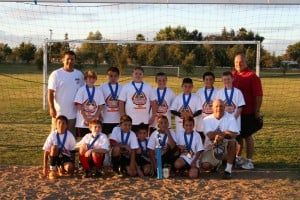 Lodi Dragons under-11 boys soccer team first at tournament