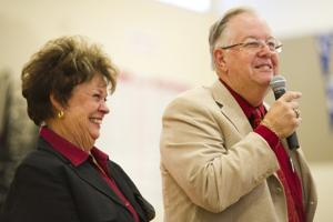 Lodi High recognizes Bill and Carol Meehleis for contributions with name of gymnasium