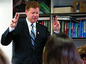 Assemblyman comes to Galt High School with words of wisdom