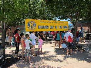 Kiwanis Day at the Pool event went swimmingly