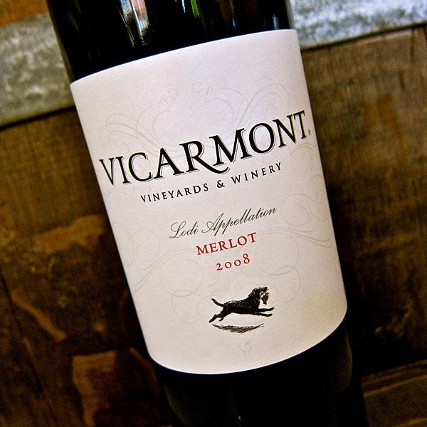 Wine of the Month: The 2008 Vicarmont Lodi Merlot is soft and fruit-focused