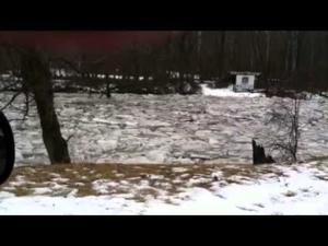 Hocking River ice flow