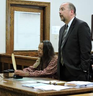 <p>Marshall Lucas, also known as Dancing Elk, appeared in court Thursday for a change of plea hearing with his defense attorney, Andrew Sanderson. Lucas was sentenced to one year of non-reporting probation.</p>