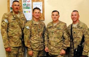 Logan soldiers meet Logan's general