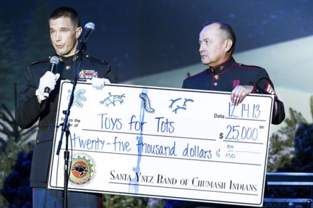 Toys For Tots Advertisement : Chumash donate to toys for tots campaign
