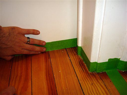 Painting The Hardwood A Creative Solution To Worn Floors