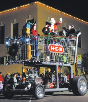 H-E-B Grand Champion in 2011 Christmas parade