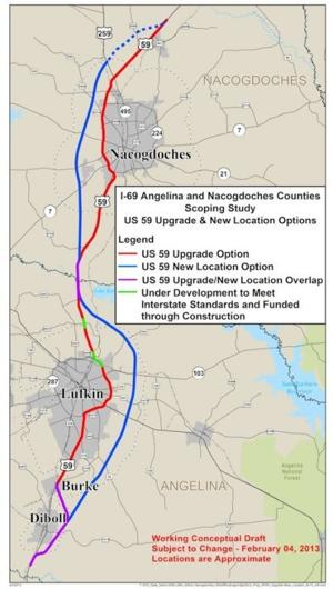 Interstate 69 possible routes