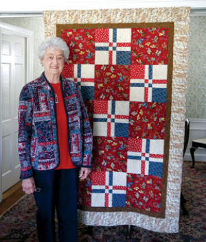 Scotty Bailess' western-themed quilt