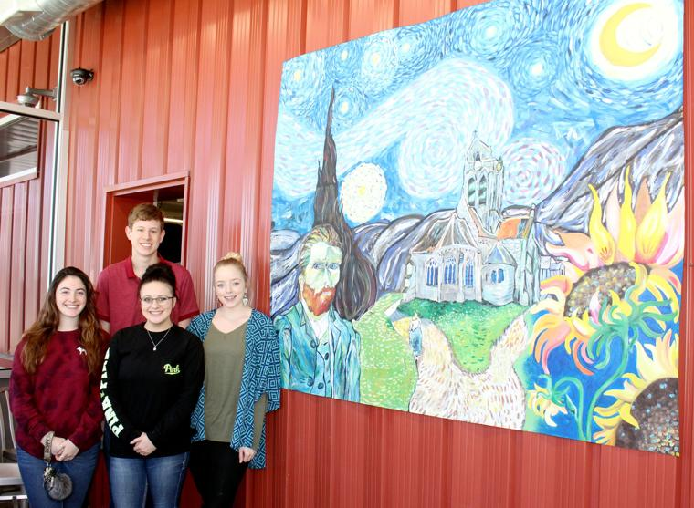 Art students create acrylic mural for hudson s brookshire for 9 11 mural van