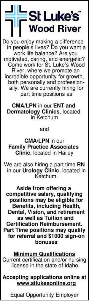 CMA/LPN & RN Positions Available