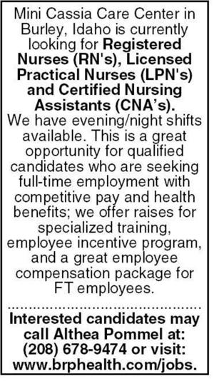 Registered Nurses, Licensed Practical Nurses, Certified Nursing Assistants
