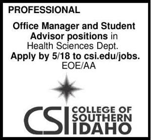 Office Manager and Student Advisor Positions