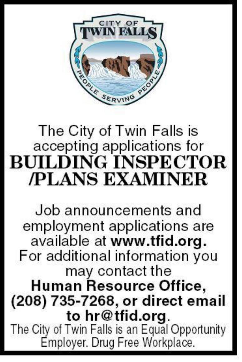 Building Inspector/Plains Examiner
