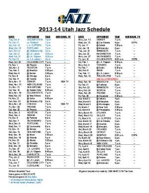 Genius image with utah jazz schedule printable