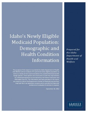 Medicaid Report Urges Idaho to Hold Off Decision