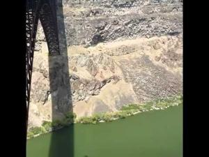 BASE Jumper Off Perrine Bridge