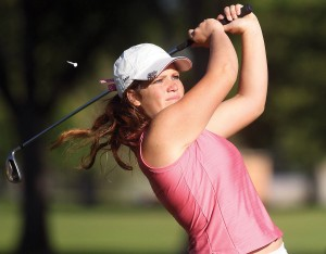 DREW NASH/Times-News Twin Falls High School senior Jenna Sharp, pictured during last summer's Ridley's Match Play Championship, signed a National Letter of Intent with Idaho State University on Tuesday.