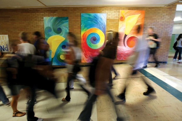 Times-News file photo Twin Falls High School students fill the halls in this ...