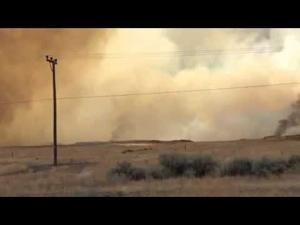 Video: Fire Near US 93 in Lincoln County