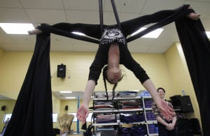 Gallery: Swinging and Hanging on Aerial Silks