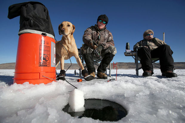 Ask fish and game ice fishing and 2 pole permits for Ice fishing games free