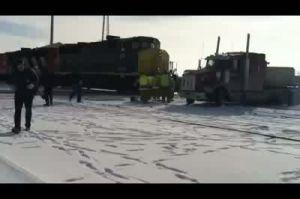 Train Hits Semi Truck