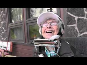 Video: Dorothy Custer on a Zip Line