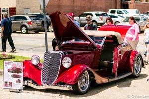 <p>The car pictured is Terry and Betty Williams' 1932 Ford convertible that placed Best of Show and won $200.</p>
