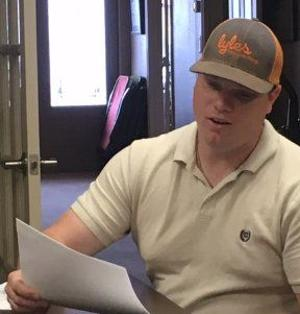 <p>Cale Emmett, representing Story Arena, discusses a grant for the Sheep & Goat Jackpot.</p>