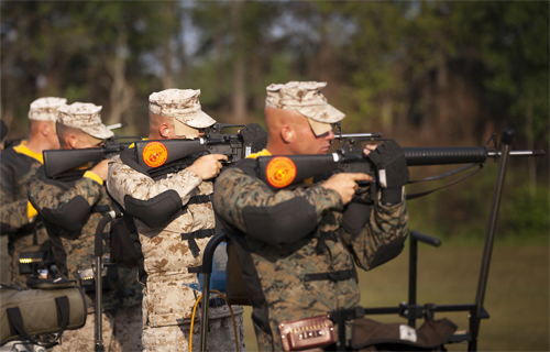 Navy gunner's mate shoots for gold in the 51st annual Interservice ...