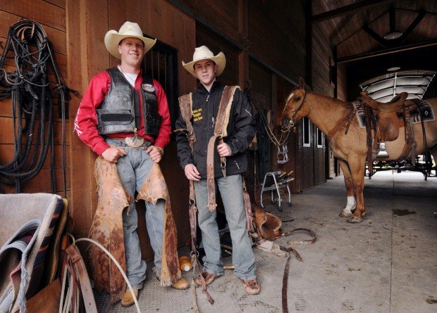 Saddle Bronc Rivals Have A Buddy System