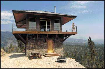 Lookout on loan couple lets crews use their personal fire for Fire tower cabin plans