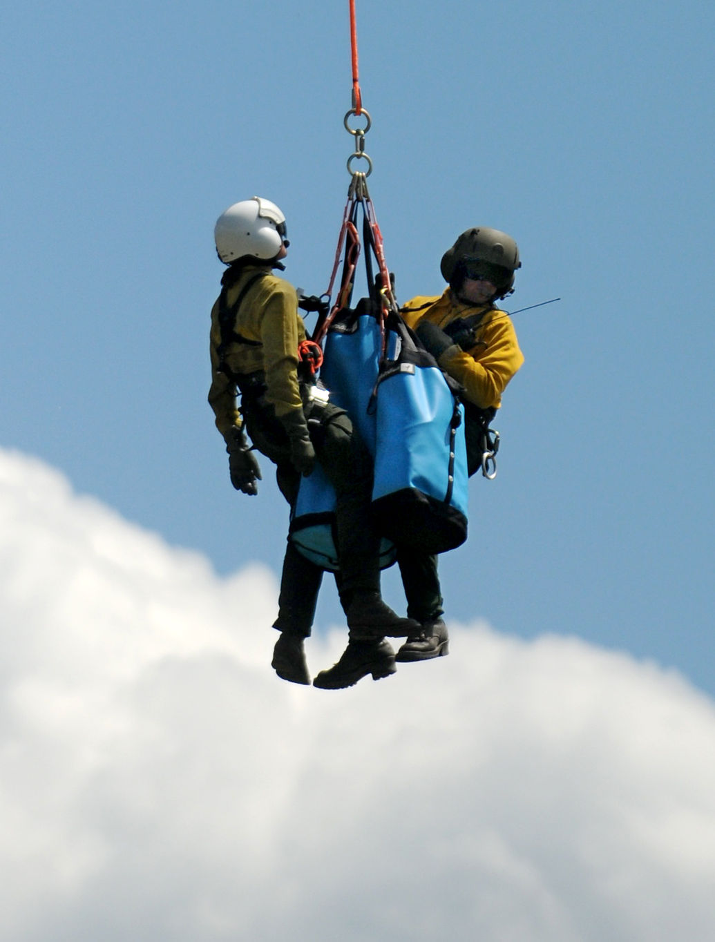 Forest Service Helitack Teams Practice Aerial Rescue In