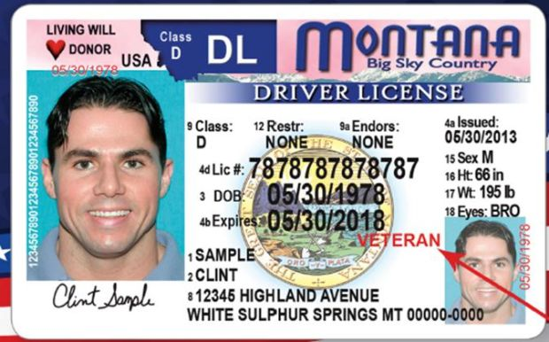 Veterans can have special designation on montana driver 39 s for Free fishing license for veterans