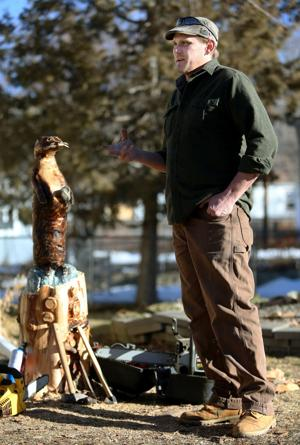 Disabled veteran who carves with chainsaw: 'It's the best therapy I've found, hands down'