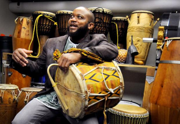 Ghanaian percussion master makes drums talk, will perform at UM