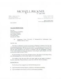 university of montanas letter of engagement with attorney