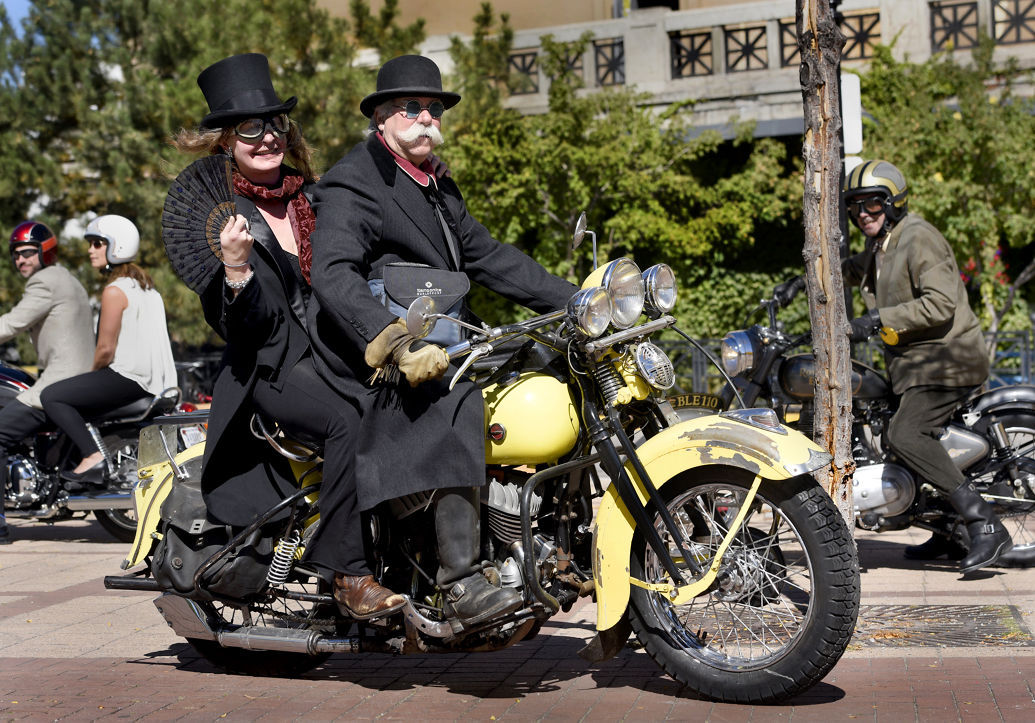 Dapper Motorcyclists Take Part In Distinguished Gentleman
