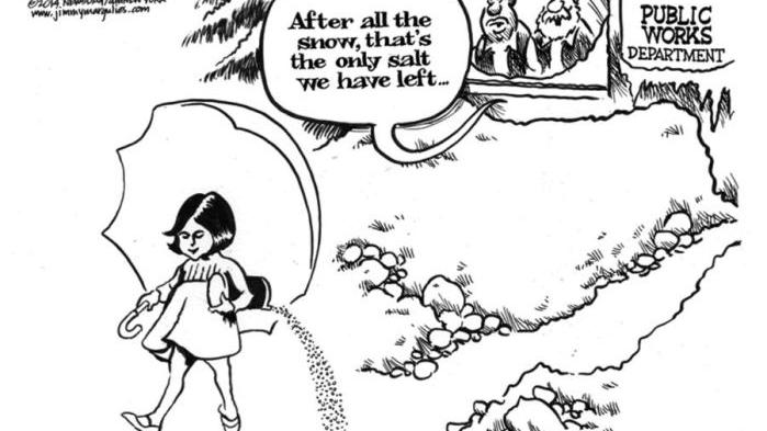 CARTOON: After heavy snowfall, Public Works Department