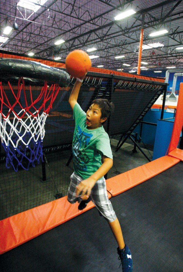 Jump around: Indoor trampoline parks provide extra lift to get out and