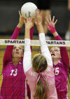 Prep volleyball: Spartans sweep Knights in crosstown match
