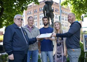 Veteran Dan Gallagher receives posthumous humanitarian award