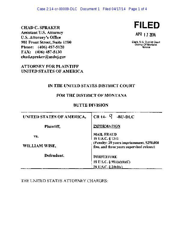 William Wise affidavit