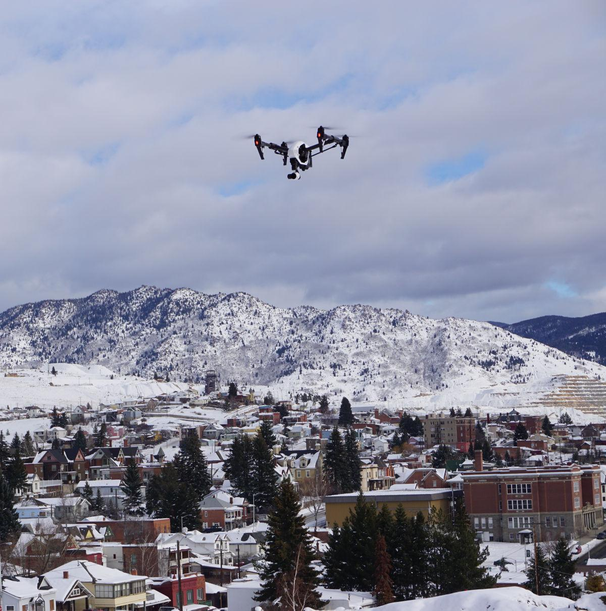 Drone Over Butte