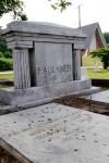The grave stone of William Faulkner