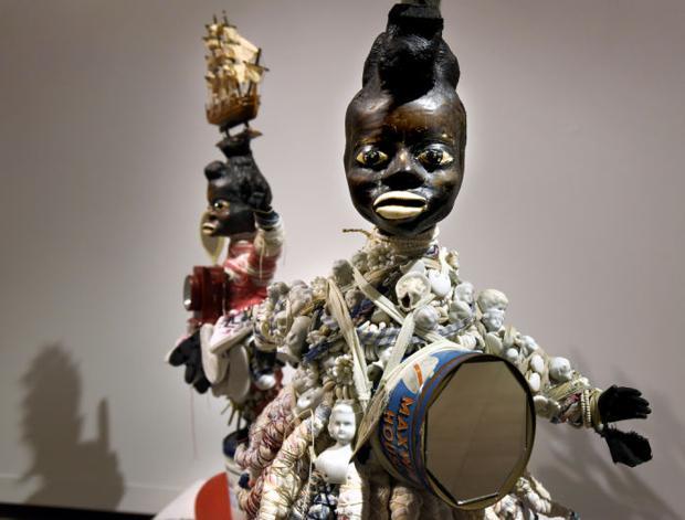 Pittsburgh artist brings folk-art, slavery-themed sculptures to UM