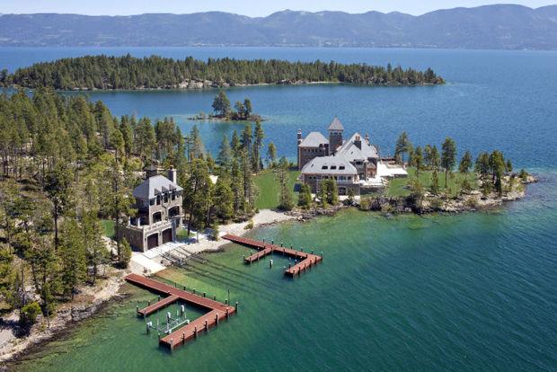 Flathead Lake Island Mansion For Sale